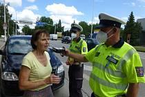 Osvětová akce police na Jindřichohradecku Řídím, piju nealko.