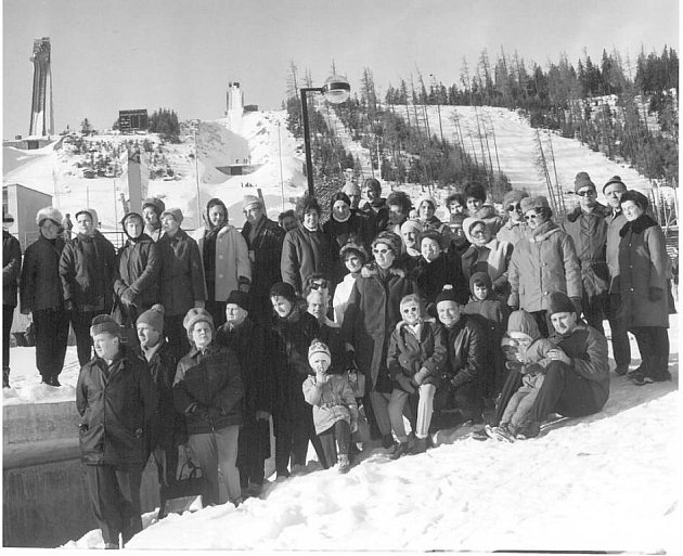 Rekreační pobyt ve Špindlerově mlýně v roce 1967.