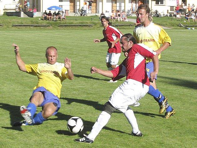 V souboji nováčků I. A třídy porazila Nová Bystřice doma Křemži 1:0.
