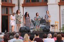 Koncert vokálního souboru X-tet v Jindřichově Hradci 1. července 2020.