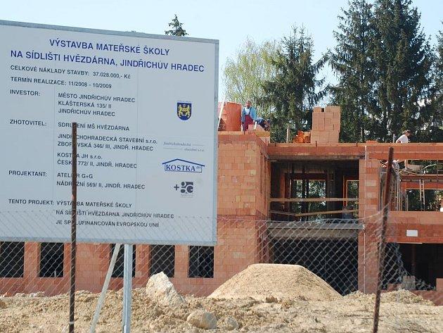 Na Jindřichohradeckém sídlišti Hvězdárna vyrůstá nová mateřská školka.
