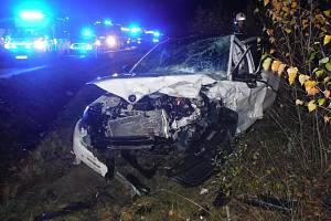 Při dopravní nehodě u Bílé se zranily dvě osoby.