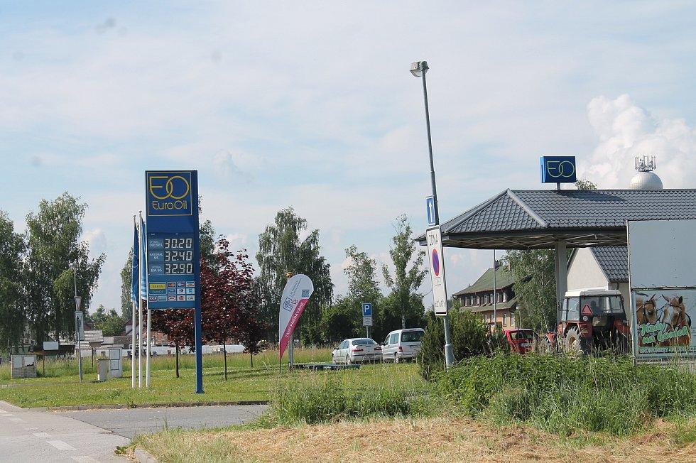 Čerpací stanice v Lomnici nad Lužnicí.