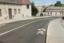 Nově opravená Václavská ulice v Jindřichově Hradci.
