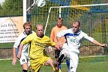 S dražickým Kromkou měli třeboňští stopeři Tomáš Havlík (vlevo) a Petr Wolf hodně práce a stejně jej neuhlídali.