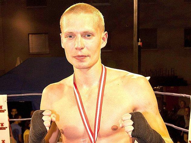 Mistr Evropy v kickboxu Jan Klaška z Jindřichova Hradce.