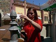 Pivní slavnosti v třeboňském pivovaru.