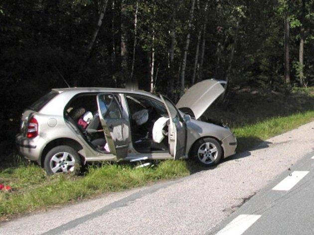 Dopravní nehoda u Mláky.