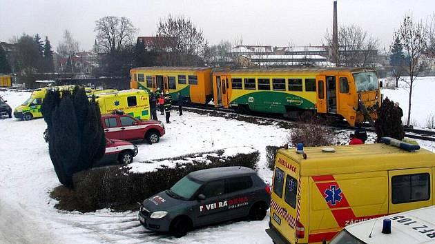 Tragická srážka vlaků u Vodňan.