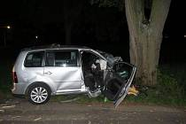 Náraz do stromu v jindřichohradecké Nežárecké ulici se stal řidiči osudným.