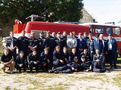Ze života hasičů v Kunžaku.