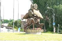 """Kruhový objezd """"U Kaprů"""" v Třeboni."""