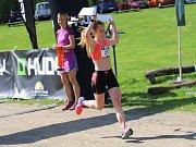 Pavla Schorná v cíli Hruboskalského půlmaratonu.