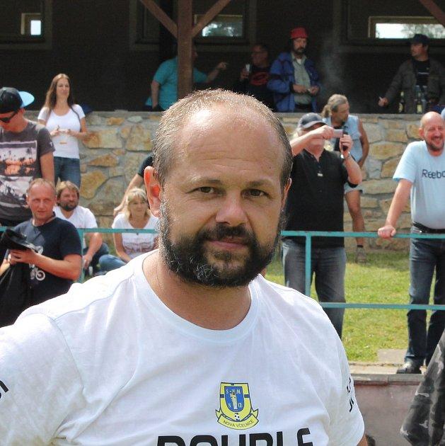 Trenér fotbalistů Nové Včelnice Radek Vajda.