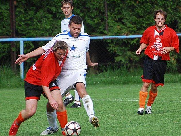 Momentka ze zápasu Vodňany - J. Hradec (0:4).