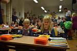 První školní den v ZŠ v Sokolské ulici v Třeboni.