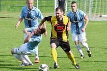 Hradečtí fotbalisté divizní derby v Milevsku prohráli 1:3.