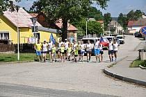 Štafeta Mírového běhu zavítala do Starého Města pod Landštejnem.