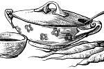 Historická kuchařka Žahúři v Jindřichově Hradci je ilustrovaná nádhernými kresbami výtvarníka Tomáše Kadlece.