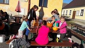 Žítečské děti si užily odpoledne s dýněmi