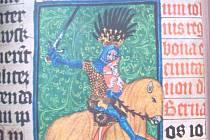 JAN LUCEMBURSKÝ na vyobrazení v Gelnhausenově rukopisu.