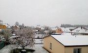 Sníh 28. dubna měli také v Jarošově nad Nežárkou.
