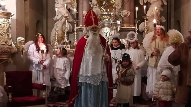Mikulášská návštěva v Chlumu u Třeboně.