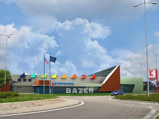 Budoucí podoba bazénu v Jindřichově Hradci.