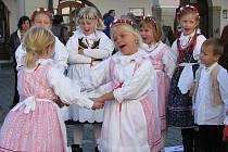 V Třeboni rozložily o víkendu své stánky třeboňské neziskové organizace. Na snímku je sdružení Rybníkáři.