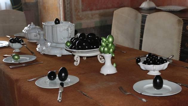 Splašená vejce na zámku v Jindřichově Hradci.