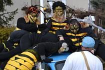 Hlavním tématem sobotního masopustu v Jilmu byl hmyz.