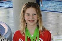 Simona Pavlíková získala na Zimním poháru Čech stříbrnou medaili  na trati 800 m volný způsob.