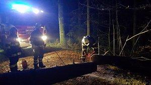 Nedělní zásah hasičů na JIndřichohradecku
