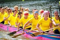 Na Ratmírovském rybníku se uskutečnil v pořadí již čtvrtý ročník závodů dračích lodí Vajgarská saň.