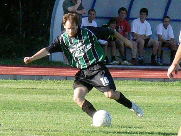 Jan  Beneš patří k nejlepším střelcům Slovanu a jedním gólem se podílel i na vítězství svých barev v Malšicích.