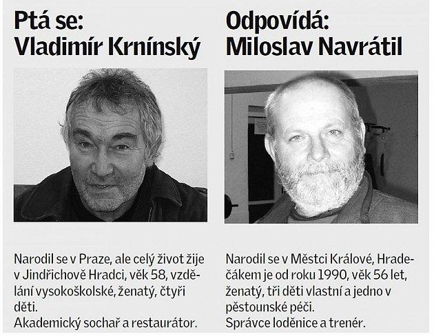 Štafetový kolík minulý týden předal Vladimír Krnínský veslaři Miloslavu Navrátilovi.
