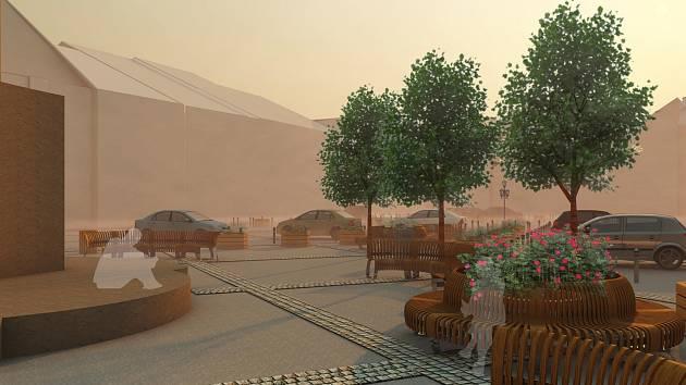 Varianta 3. Ukázka vizualizace úprav náměstí Míru.