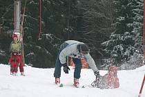 Víkendové lyžování v Horní Radouni.