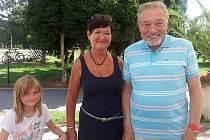Setkání s Karlem Gottem v lázních v Třeboni dne 29. 7. 2019.