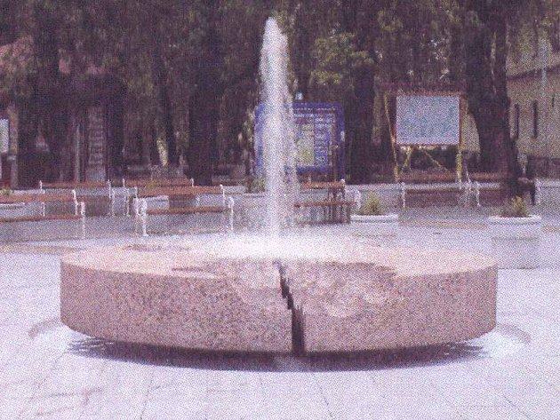 Počítačová studie fontány v J. Hradci.