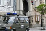 Policisté vyšetřují loupežné přepadení v jindřichohradecké pobočce Komerční banky.
