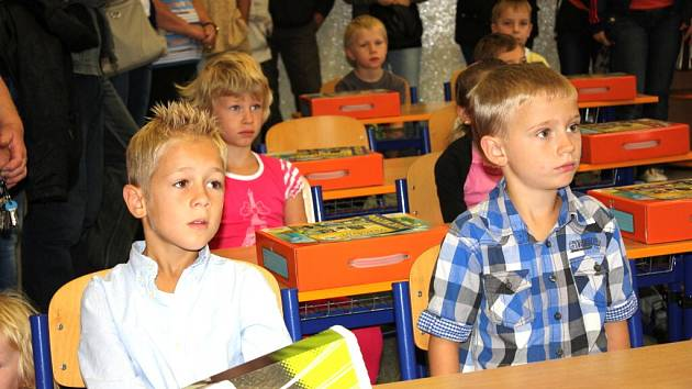První školní den v Suchdole.