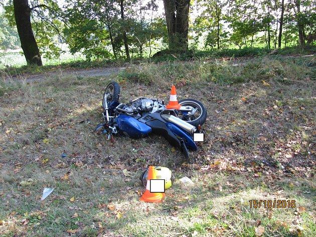 Tragická nehoda motorkáře u Třeboně.