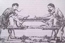 MISTR A TOVARYŠ mečířský při práci v 16. století.