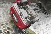 Dopravní nehoda u Studené ve směru na Mrákotín.