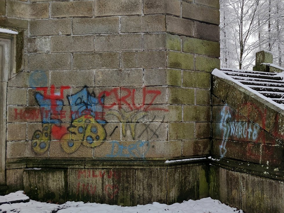 Kostel svatého Jakuba v Jindřichově Hradci spolu s hrobkou Černínů je častým cílem procházek. Bohužel, také sem vyrážejí za zábavou vandalové.
