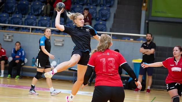 Andrea Jonová zaznamenala v souboji s Havlíčkovým Brodem tři branky.