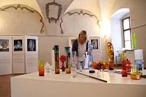 Výstava Skleněné rozhovory v muzeu fotografie v Jindřichově Hradci.