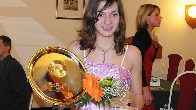Veronika Plucarová (na snímku) získala na galavečeru v Humpolci titul v kategorii Žák roku.