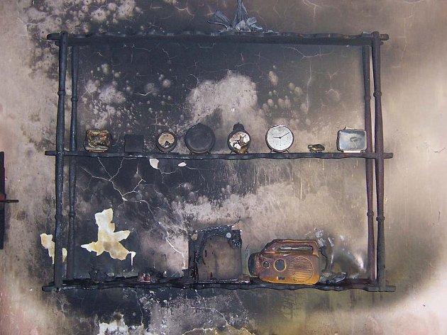 Požár v domě v Suchdole nad Lužnicí.